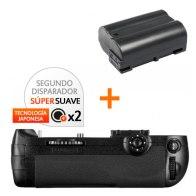 Kit de Empuñadura Gloxy GX-D12 + Batería EN-EL15
