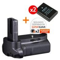 Kit de Empuñadura Gloxy GX-D3100 + 2 Baterías EN-EL14 para Nikon D3300