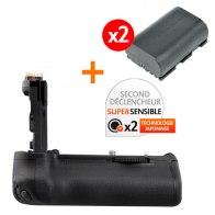 Kit de Empuñadura Gloxy GX-E14 + 2 Baterías LP-E6 para Canon EOS 70D