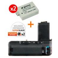 Kit de Empuñadura Gloxy GX-E5 + 2 Baterías LP-E5