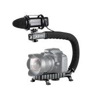 Kit Gloxy Estabilizador para vídeo Movie Maker + Micrófono GX-M20 para Kodak EasyShare P712