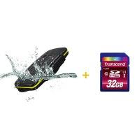 Kit estuche para 8 tarjetas + Memoria SDHC Transcend 32GB para Kodak Pixpro AZ527