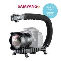 Kit de Vídeo Samyang Ojo de pez 8 mm y Estabilizador para Video para Kodak EasyShare P712