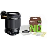 Kit Tamron 18-200mm f/3.5-6.3 Canon + Filtro ND4 Gloxy