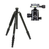 Kit Triopo Trípode 2en1 MT-3230X8C + Rótula B-2 para Nikon D5200