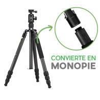 Kit Genesis Trípode C5 + Rótula BH-40 Gris para Nikon D5200