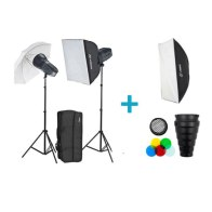 Kit de estudio profesional Visico 5 Inalámbrico TTL Plus Softbox Extra
