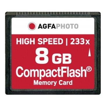 Memoria Compact Flash AgfaPhoto 8GB High Speed 233x M
