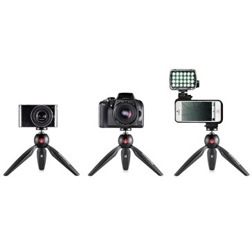 Manfrotto Pixi Mini Tripod Black for Canon LEGRIA HF R18