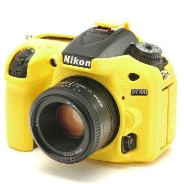 Funda easyCover Amarilla para Nikon D7100