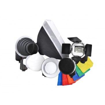 Kit Flash Gloxy GX-F990 + 7 Accesorios Strobist para Canon EOS 1300D