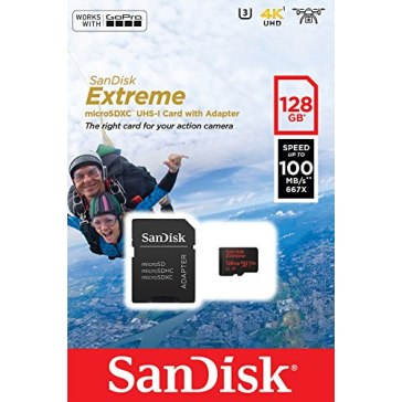 Memoria microSDXC SanDisk 128GB ActionSC Extr.100MB