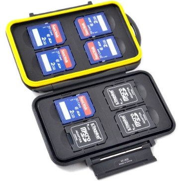Estuche para 8 tarjetas de memoria SD para Ricoh Caplio RR770