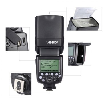 Godox V860II Flash para Sony A6600
