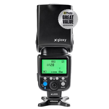 Kit Flash TTL Gloxy + Batería externa para Canon Powershot SX60 HS