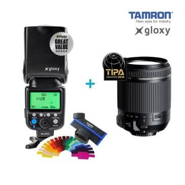 Objetivo Tamron 18-200mm + Flash Gloxy GX-F990 TTL HSS