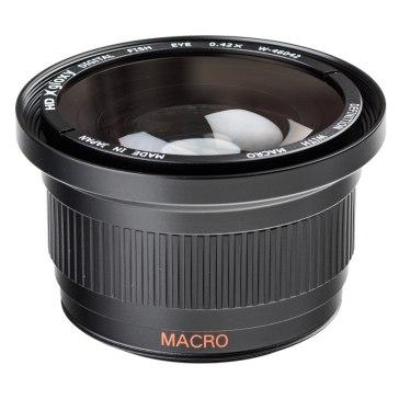 Lente Ojo de pez y Macro para Kodak EasyShare Z1012 IS