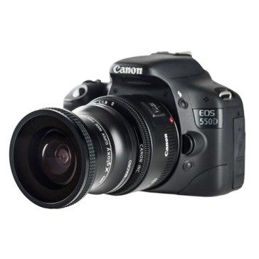 Lente ojo de pez + Macro para Canon EOS R