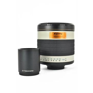 Teleobjetivo Canon Gloxy 500-1000mm f/6.3 Mirror para Canon EOS 1200D