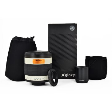 Gloxy 500-1000mm f/6.3 Telephoto Mirror Lens for Panasonic and Olympus Micro 4/3 + 2x Converter