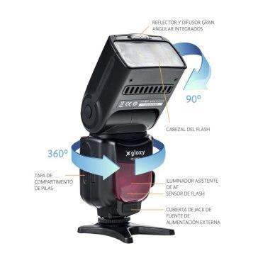 Flash Gloxy TTL HSS GX-F990C para Canon EOS 1200D