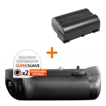 Kit de Empuñadura Gloxy GX-D15 + Batería EN-EL15 para Nikon D7100
