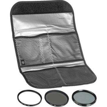 Kit de 3 filtros Hoya UV + CPL + NDX8 46mm