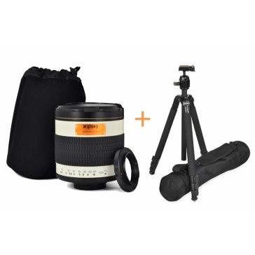 Kit Gloxy 500mm f/6.3 teleobjetivo Sony A + Trípode GX-T6662A