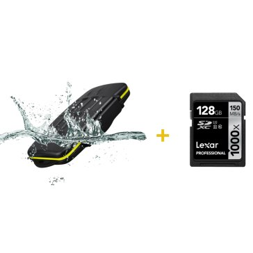 Kit estuche para 12 tarjetas + Memoria SDXC Lexar 128GB
