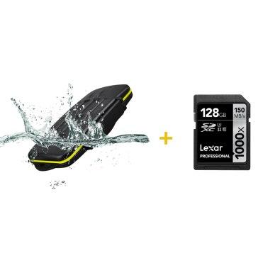 Kit estuche para 8 tarjetas + Memoria SDXC Lexar 128GB
