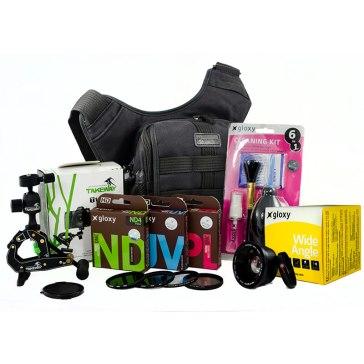 Kit de 15 piezas Negro para Canon EOS 1300D