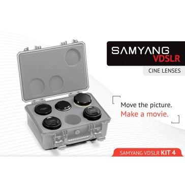 Kit Samyang para Cine 14mm, 24mm, 35mm, 16mm, 500mm para Kodak DCS Pro 14n