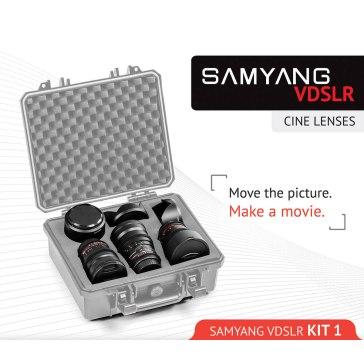 Kit Samyang para Cine 14mm, 24mm, 35mm Sony E para Sony A6100