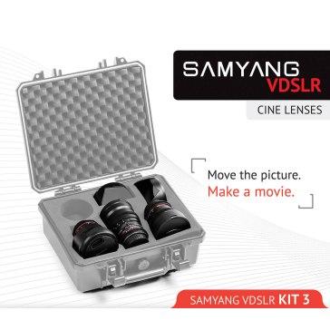 Kit Samyang para Cine 8mm, 16mm, 35mm para Nikon D7100