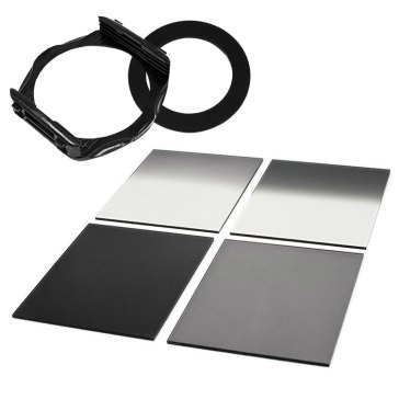 P Series Filter Holder + 4 52mm ND Square Filters Kit for Canon Powershot SX410 IS