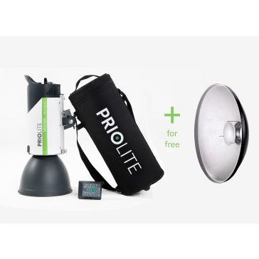 Kit Priolite Flash de estudio MBX 500 Hot Sync + Beauty dish