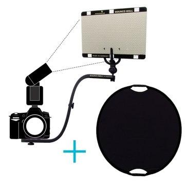 Brazo reflector Sunbounce Bounce-Wall Kit Retratos + fondo negro