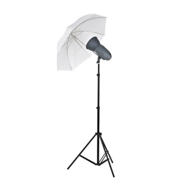 Kit Flash de Estudio Visico VL-400 Plus + Soporte + Paraguas Traslúcido para Samsung NX2000