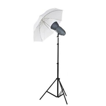 Kit Flash de Estudio Visico VL-400 Plus + Soporte + Paraguas Traslúcido para Sony A6100