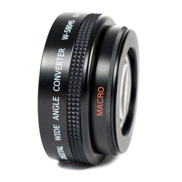 Lente gran angular con macro 0.45x para Canon EOS 1200D