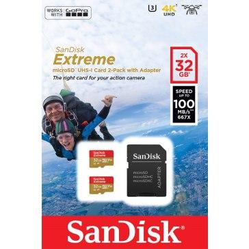 Memoria microSDHC SanDisk ActionSC Extreme 32GB x2