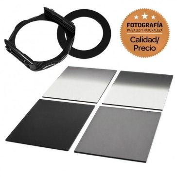 Kit Portafiltros tipo P + 4 Filtros ND Cuadrados 67mm
