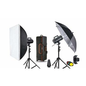 Kit de iluminación de estudio Quadralite Move 400