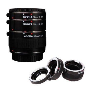 Kit tubos de extensión 10mm, 20mm, 35mm Metal para Canon EOS 1200D