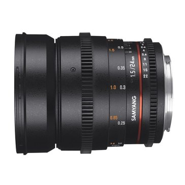 Samyang 24mm T1.5 VDSLR MKII Lens Canon for Canon EOS 350D