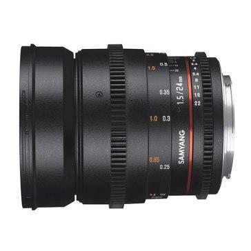 Samyang 24mm T1.5 VDSLR MKII Lens Canon for Canon EOS 450D