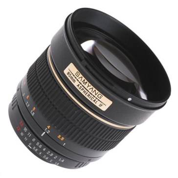 Samyang 85mm f/1.4 IF MC Aspherical Lens Canon for Canon EOS 1Ds Mark III