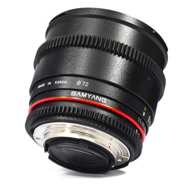 Objetivo Samyang 85mm T1.5 V-DSLR AS IF UMC Sony E  para Sony A6600