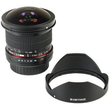 Samyang 8mm f/3.5 CSII para Nikon D5500