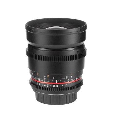Samyang 16mm T2.2 V-DSLR ED AS UMC CS Lens Canon M for Canon EOS M10